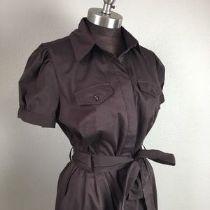NWT Worthington Stretch Belted Brown Dress